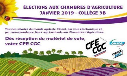 Elections aux Chambres d'Agriculture Janvier 2019